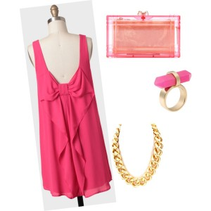 outfit vestido rosa