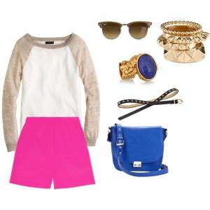 outfit shorts rosas